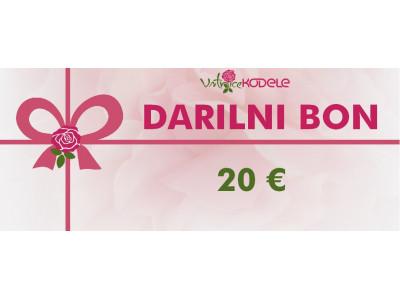 Darilni bon 20 eur